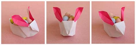 Origami Bunny Box - easter wrap up george toast