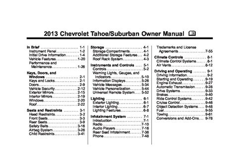 2013 chevrolet suburban ltz owners manual just give me the damn manual
