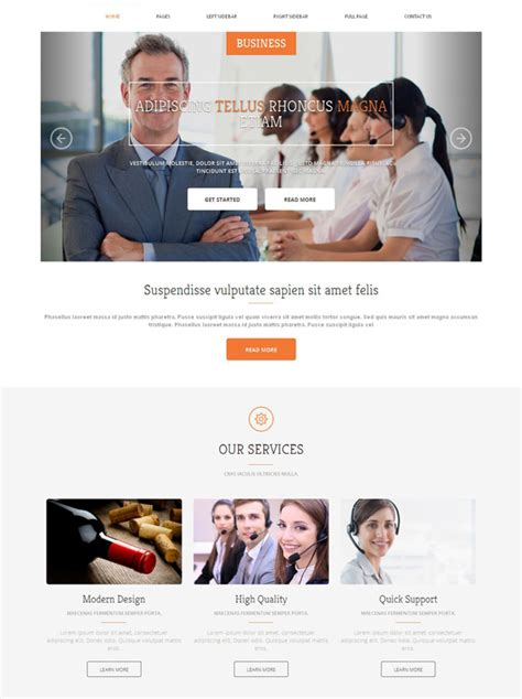 website templates for export business business management website template business website
