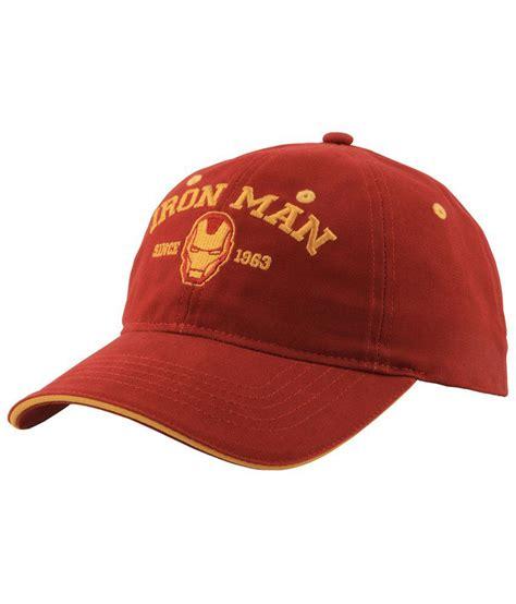 Baseball Cap Maroon marvel maroon cotton baseball cap buy rs snapdeal