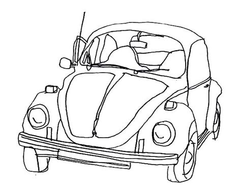 beetle car coloring page volkswagen beetle coloring pages