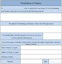 Termination Paperwork Template by Termination Of Tenancy Form Sle Termination Of Tenancy Form Sle Forms