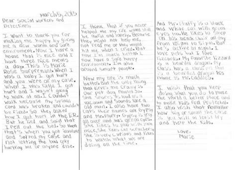 Support Letter For Domestic Violence Victims this 8yo domestic violence victim s letter is