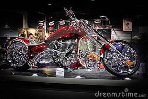Red Motorcycle   Chicago Motorcycle Show Editorial Stock Image   Image: 24097299