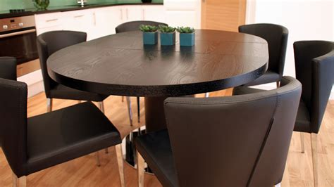 Modern Extendable Dining Table Modern Round Black Ash Extending Dining Set Trendy Black