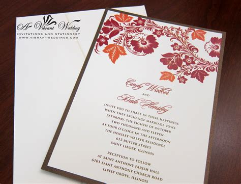 and orange wedding invitation a vibrant wedding