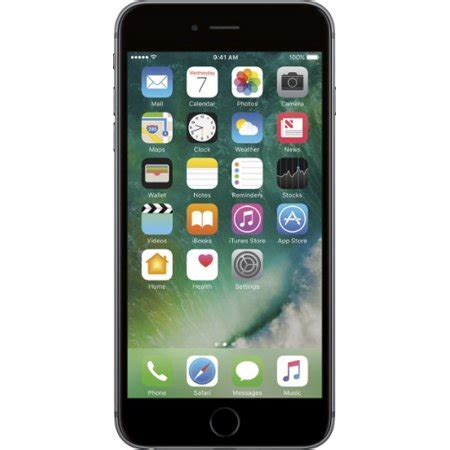 at t prepaid apple iphone 6 32gb prepaid smartphone silver walmart
