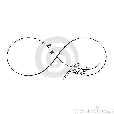 infinity faith stock vector image 47261202
