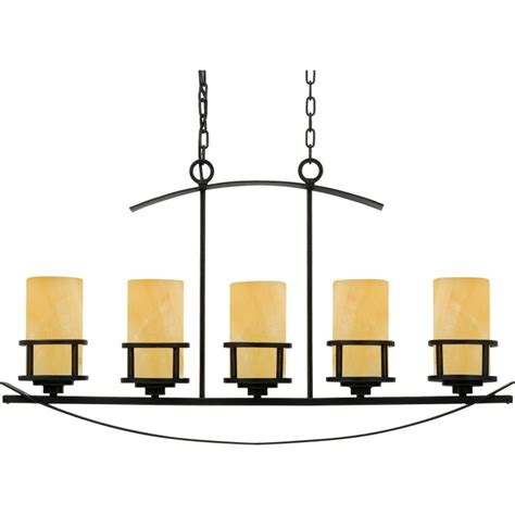 Linear Candle Chandelier Quoizel Ky540ib Imperial Bronze Kyle 5 Light 40 Quot Linear Chandelier With Onyx Pillar Candle
