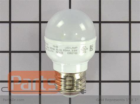 whirlpool refrigerator light bulb w10865849 whirlpool refrigerator light bulb parts dr