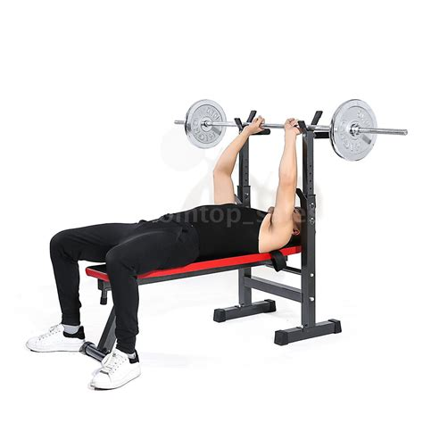 Sit Up Bench Total Fitnes adjustable folding weight lifting flat incline bench