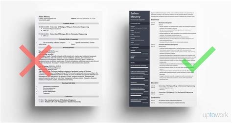 sample resume for fresh graduate mechanical engineering