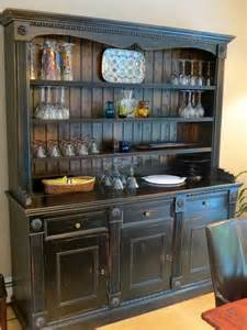Kitchen China Cabinet Crafted Custom Black Rustic China Cabinet From Salvaged Barn Boards By Ecustomfinishes