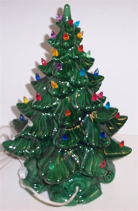 vintage lighted bulbs ceramic christmas tree atlantic mold