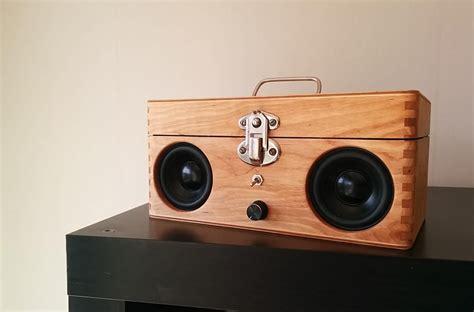 diy boat speakers portable speaker from old wooden box radio pinterest