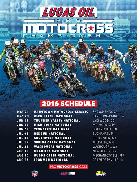 lucas oil pro motocross chionship 2016 lucas oil pro motocross countdown thread hall of
