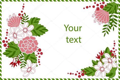 biglietti con fiori biglietto di auguri con fiori vettoriali stock