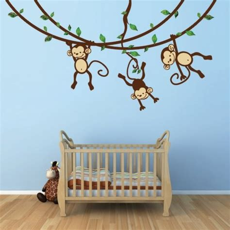 Monkey Wall Decals For Nursery 17 Best Images About Baby Child S Bedroom Ideas On Pinterest Baby Rooms Wall Stickers And Monkey