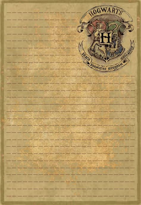 Hogwarts Acceptance Letter Paper Hogwarts Letterhead Stationery By Sinome On Deviantart
