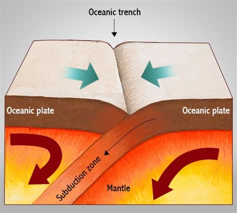 collision boundary diagram theory of plate tectonics
