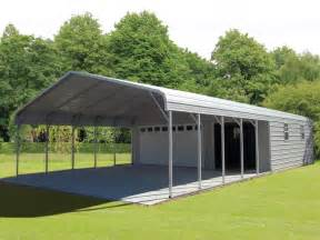 What Is A Carport Garage Steel Garage Carport Combo One Two Or Three Car Metal Garage