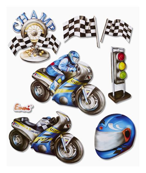 Motorrad Bogen Online by Xxl Sticker 3 D Sticker Ihr Basteldiscounter