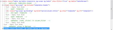 ng include ng template angularjs ng table header not showing in ie 9 stack