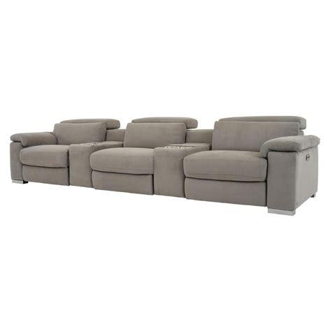 karly light gray home theater seating el dorado furniture