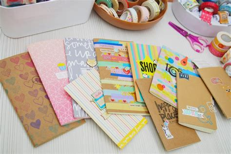 Decorate Notebook happiness is scrappy planners how to decorate midori fauxdori notebook