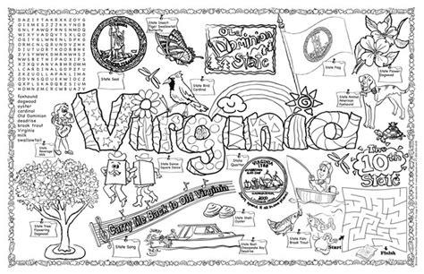 gallopade international virginia symbols facts funsheet