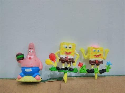 Hiasan Kue Ulang Tahun Jamur Isi 5 jual hiasan kue ulang tahun spongebob isi 3