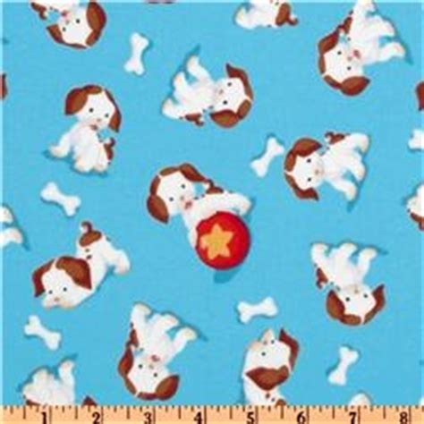 poky puppy fabric poky puppy flannel allover blue sewing fabric flannels