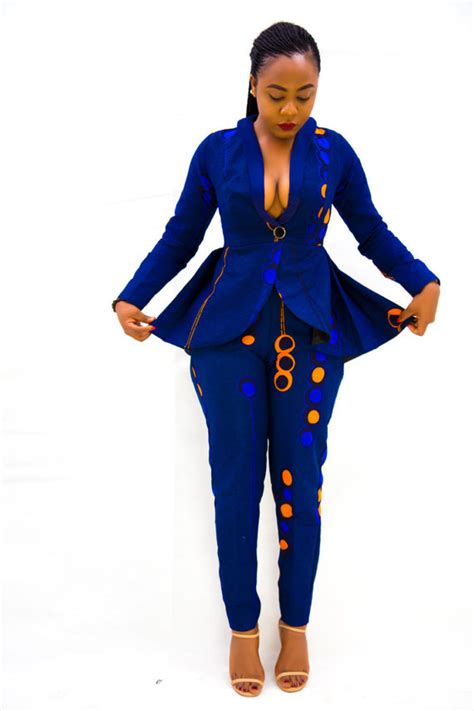 fashionable african dresses and suites nuvu jacket with peplum and pants black friday by