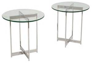 glass side tables for bedroom mid century chrome glass side tables