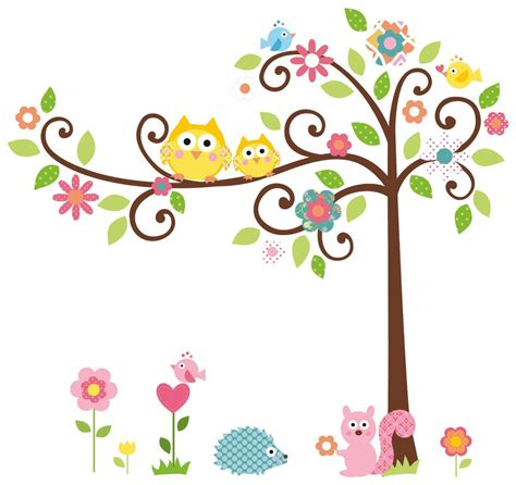 cute trees cute owl cartoon clipart best