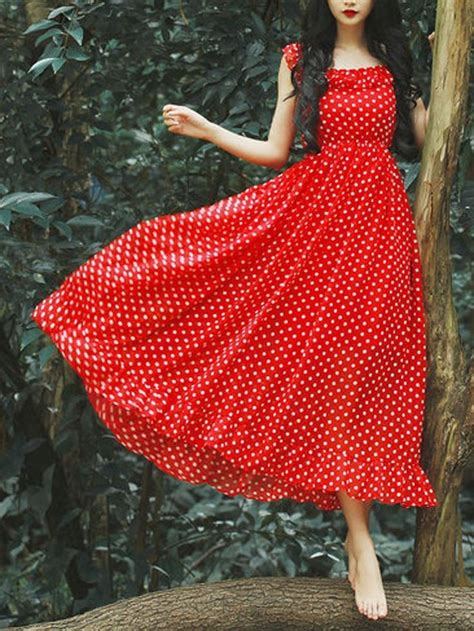 Spaghetti Dot Midi Dress best 25 polka dot skirts ideas on polka dot