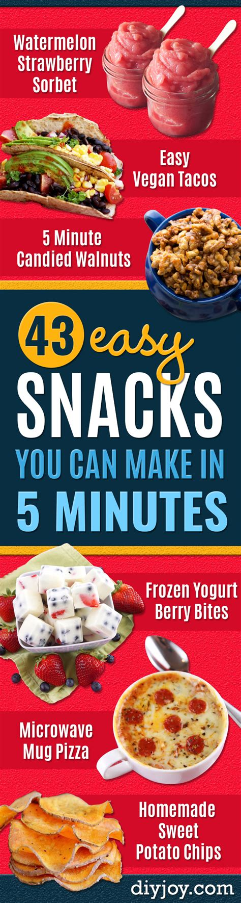 5 minute recipes for snacks