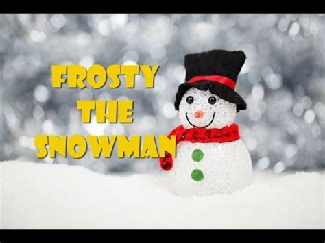 frosty  snowman lyrics video instrumental  karaoke youtube