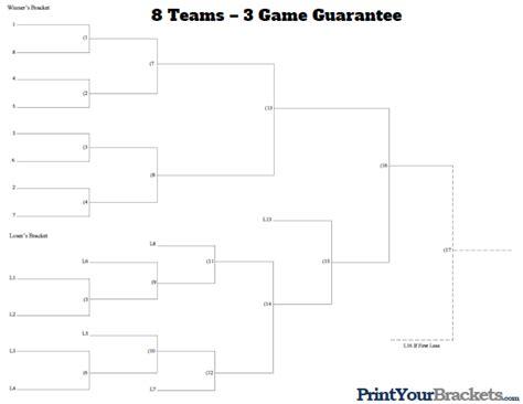 printable 4 name baby girl tournament bracket 3 game guarantee 8 team seeded printable tournament bracket