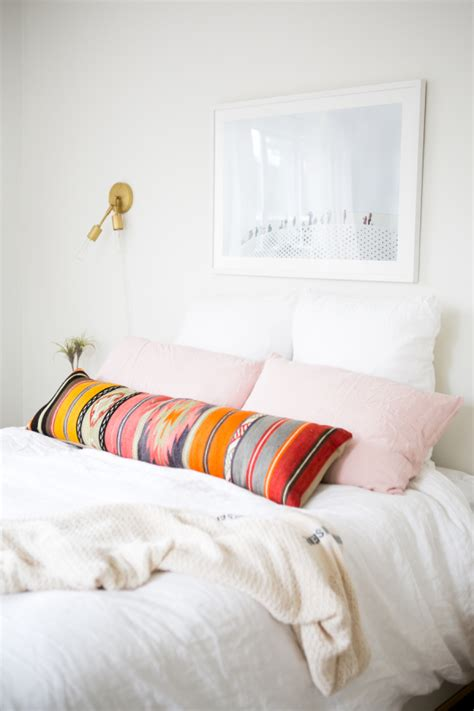 long bed pillows tidy tuesday lumbar pillows polished closets