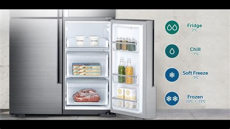 Samsung Flexzone Drawer by Samsung Fridge Rf9000k Door With Flexzone 854 L