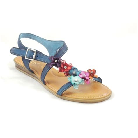 navy sandals flat lotus navy blue leather open toe flat sandal lotus from