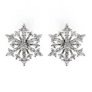 Free Gift Wrapping Service - 18ct white gold 0 57ct snowflake diamond stud earrings jewellery from mr harold and son