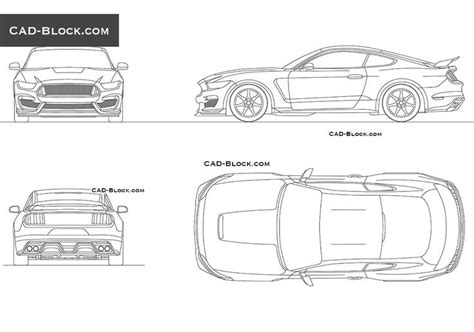car templates for autocad ford mustang 2015 cad block vehicles pinterest