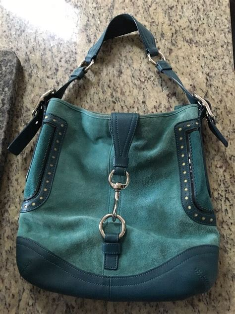 Coach Bag Turquoise by Coach Suede Turquoise Shoulder Bag Ebay