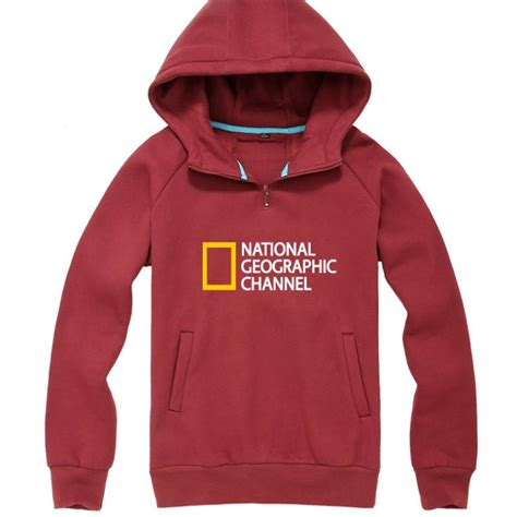 Jaket National Geographic Hoodies Logo Black sudaderas logo channel