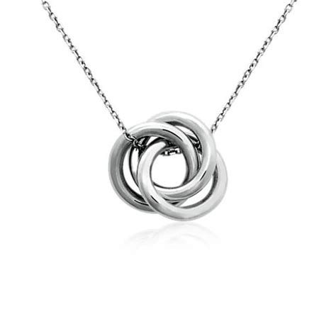 infinity knot pendant in sterling silver blue nile