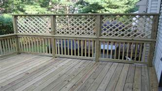 townhouse living diy lattice privacy fence lattice deck