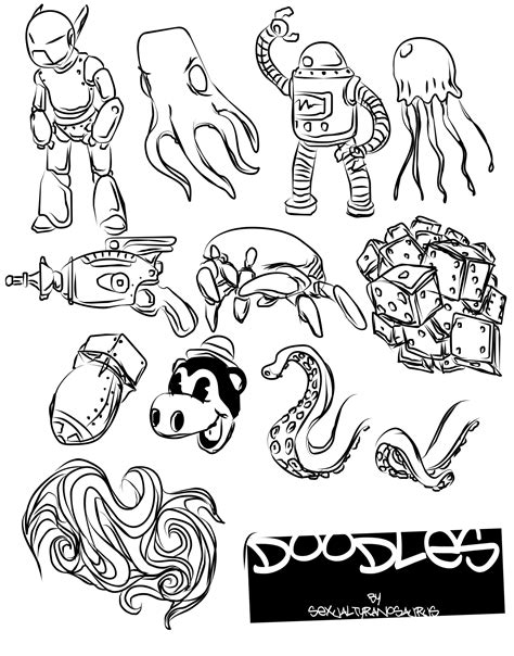 doodle drawing vector doodles vector pack by sexualtyranosaurus on deviantart