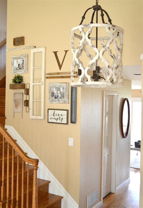 cottage style chandeliers updated entryway the prettiest chandelier